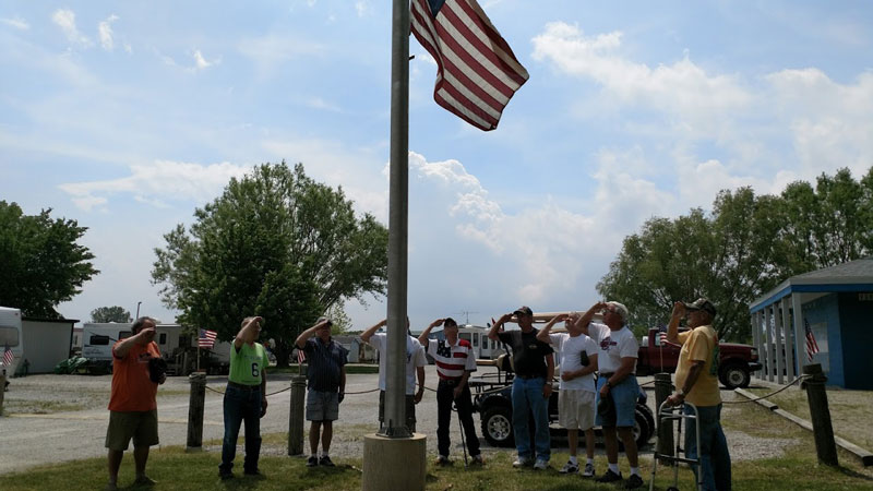 Memorial Service at Wild Wings Campground & Marina